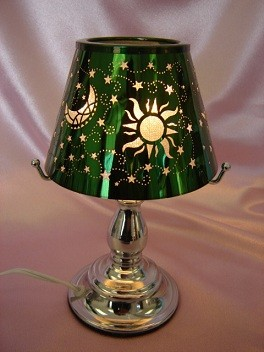 Green Sun And Moon Touch Activated Aroma Lamp